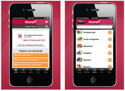 houra.fr lance son application iPad/iPhone pour faire ses courses livrées chez soi