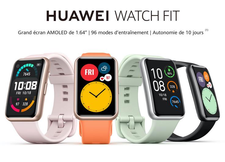 Huawei Watch Fit : une nouvelle montre connectée sportive