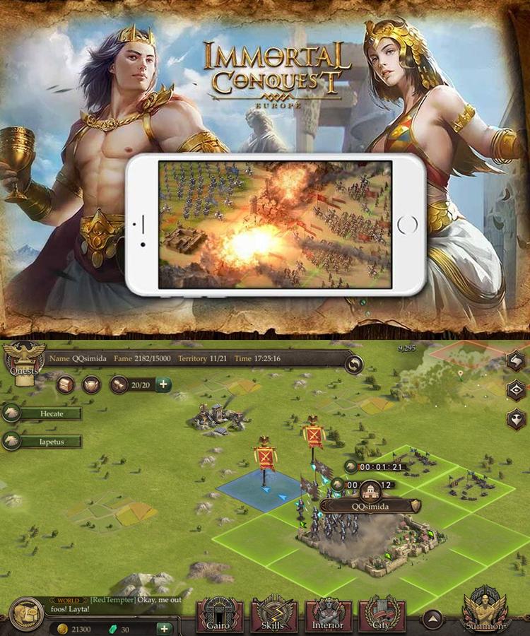 Immortal Conquest : Europe, un jeu de guerre stratégique