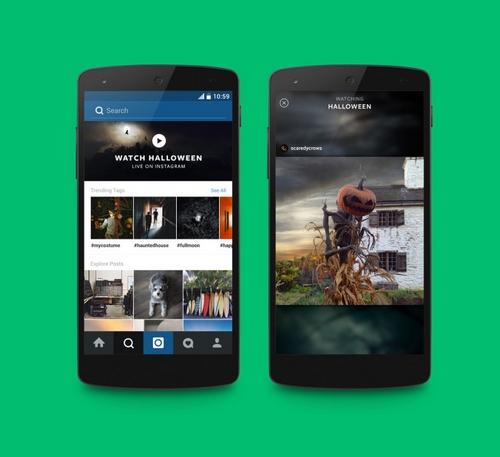 Instagram : un espace dédié pour vivre des évènements en direct