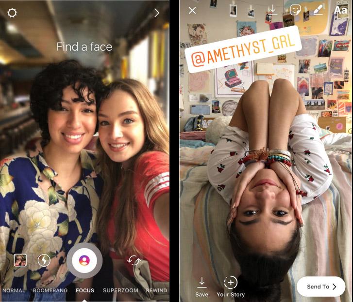 """Instagram : un nouveau  mode portrait """"Focus"""" pour flouter l'arrière plan des photos"""