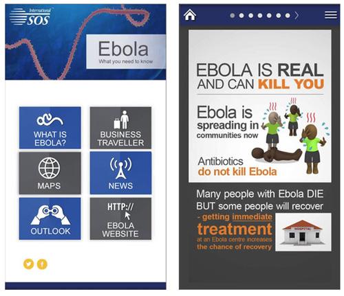 International SOS – Epidémie d'Ebola : une application mobile gratuite
