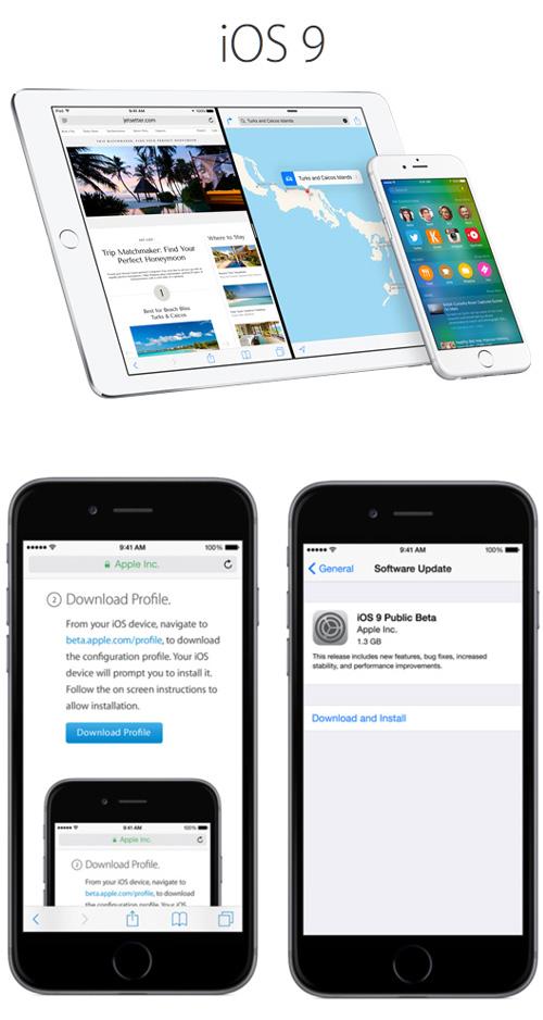Découvrez iOS 9 d'Apple en version bêta publique