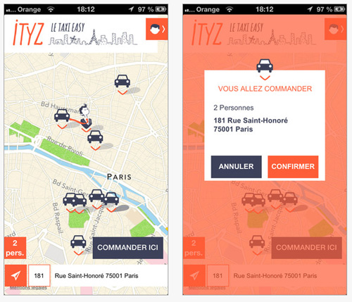 Ityz : une appli easy pour commander un taxi
