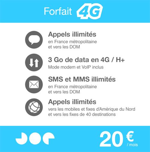 Joe Mobile lance son forfait 4G
