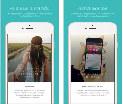 Jumpin : un concept de sorties spontanées sur mobile