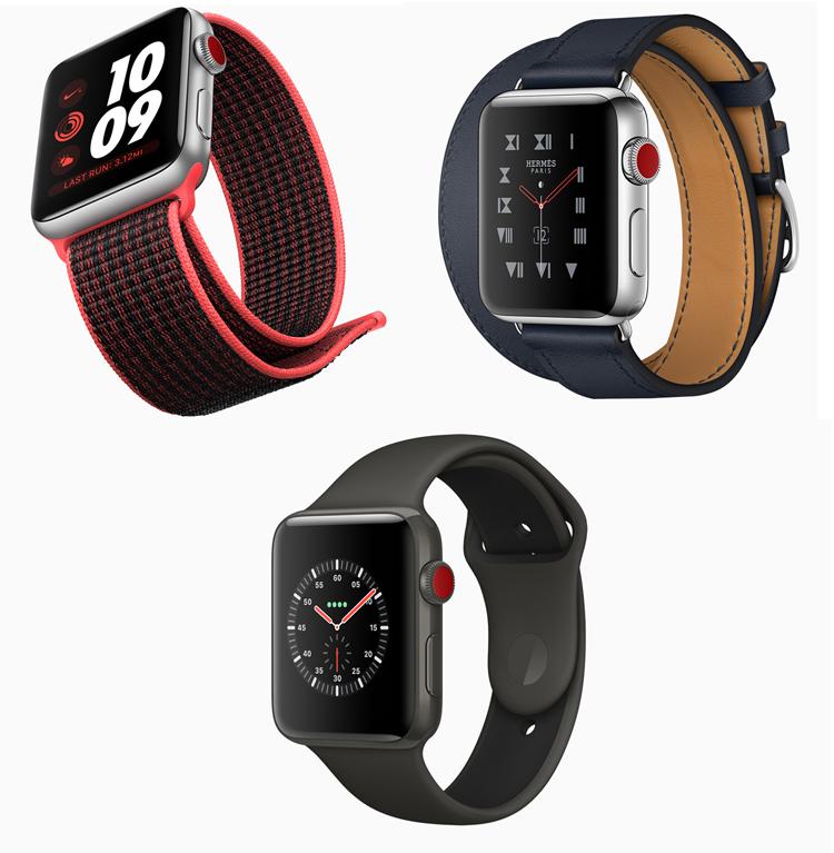 L'Apple Watch Series 3 arrive le 22 septembre en boutique