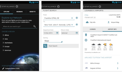 L'application de navigation Star Alliance est disponible sur Android