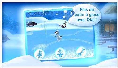 L'application Les aventures d'Olaf est disponible sur l'App Store