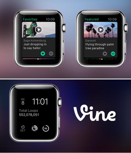 L'application Vine se met à l'heure de l'Apple Watch
