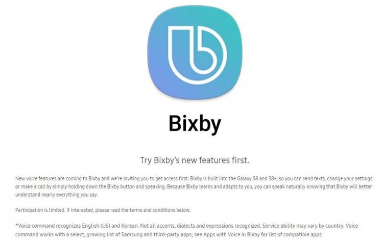 Samsung annonce l'arrivée (partielle) de Bixby sur les Galaxy S8 et S8+