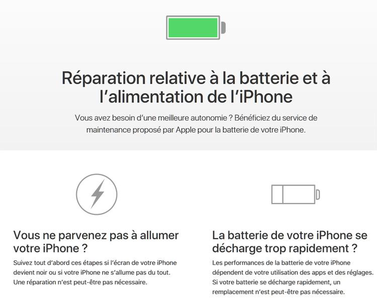 L'échange de batterie est loin d'être une bonne affaire pour Apple