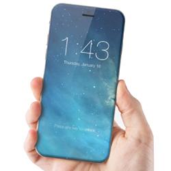 iPhone 7,  un concept avec un �cran sans bord