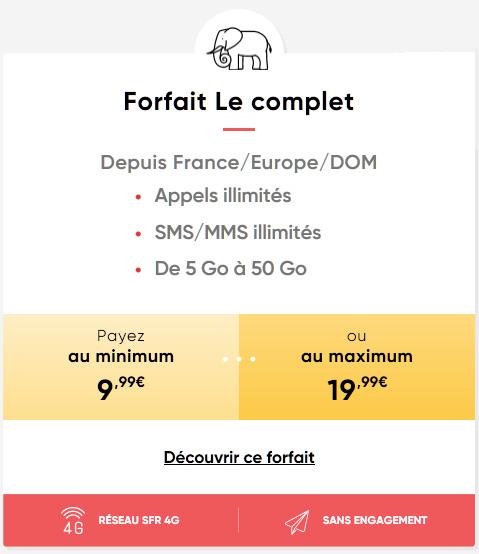 """Prixtel augmente à 50 Go son forfait mobile """"Le complet"""""""