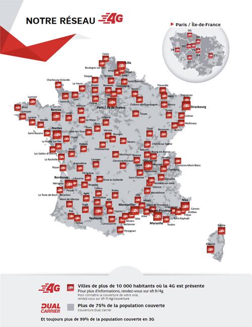 SFR renforce son réseau 4G dans 1 370 villes de l'Ouest de la France