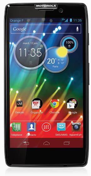 La mise à jour Android 4.1 est disponible sur le Motorola RAZR HD chez SFR