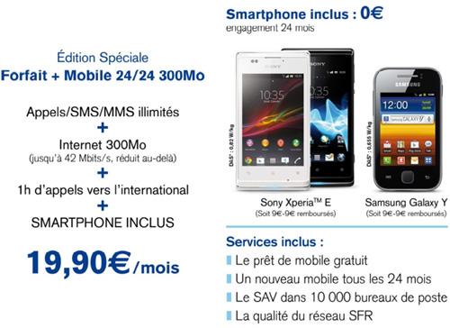 La Poste Mobile lance un forfait illimité à 19.90€ par mois avec un smartphone inclus