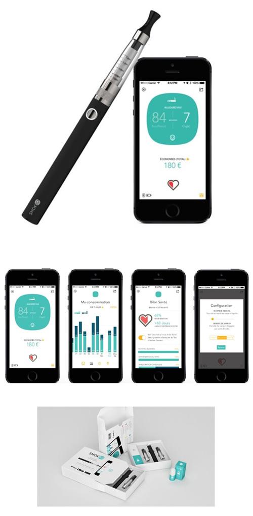 Lancement d'une première cigarette électronique connectée sur un smartphone