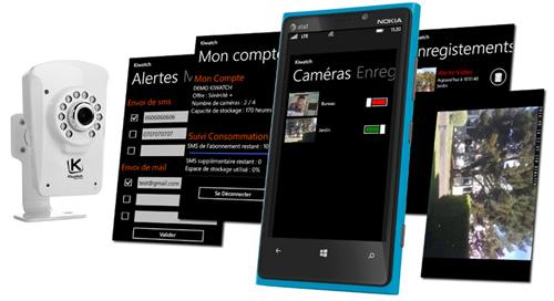 Lancement de l'application Windows Phone de vidéosurveillance Kiwatch