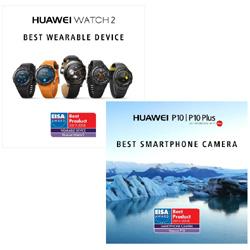 L'EISA récompense Huawei pour son Huawei P10 et sa Huawei Watch 2