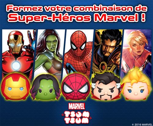 Tsum Tsum, un puzzle game qui met en scène les personnages de l'univers Marvel sous forme de peluches