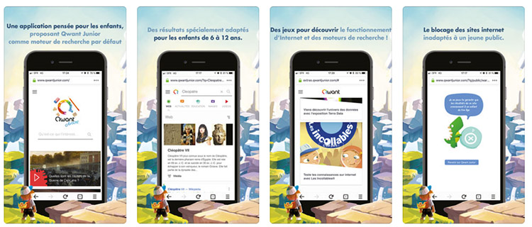 Le moteur de recherche Qwant Junior lance son application mobile