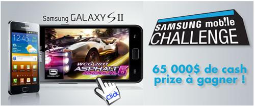 Le Samsung Mobile Challenge met en sc�ne cette ann�e le Galaxy S II