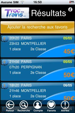 Le site Troc Des Trains se dote d'une application iPhone