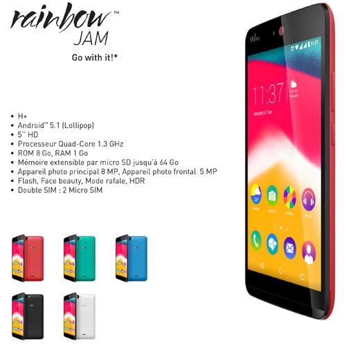 Wiko dévoile  son smartphone Raibow Jam 4G