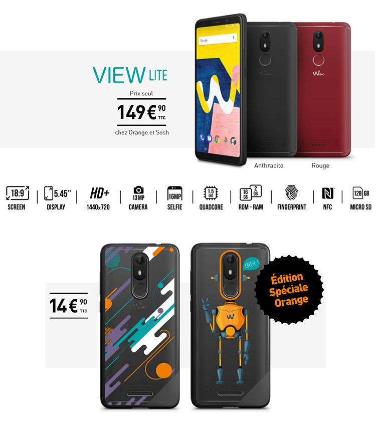 Le Wiko View Lite est d'abord disponible jusqu'au 15 mai chez Orange et Sosh