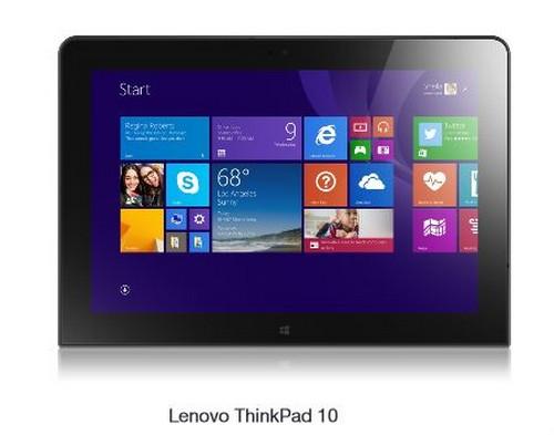 Lenovo présente sa ThinkPad 10, une tablette puissante sous Windows 8.1