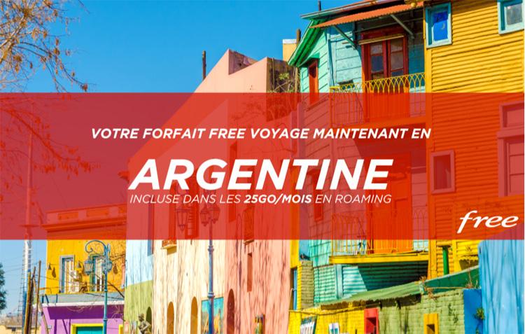 Les abonnés Free peuvent utiliser leur forfait avec 25Go/mois depuis l'Argentine
