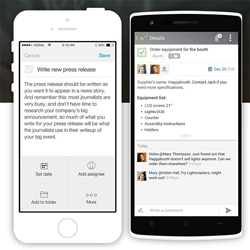 Les applications mobiles Wrike iOS et Android