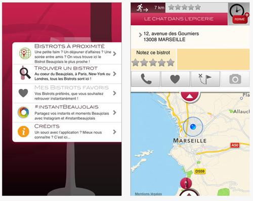 Les Bistrots Beaujolais s'animent sur iPhone et Android