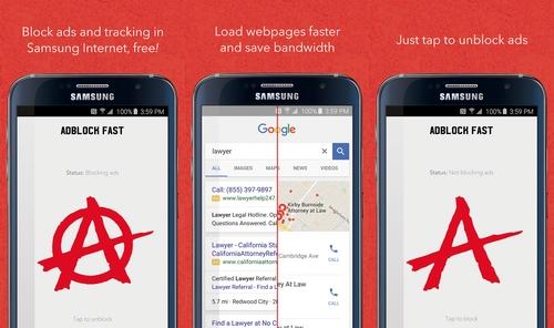 Samsung ajoute le support des bloqueurs de publicités avec son navigateur pour Android