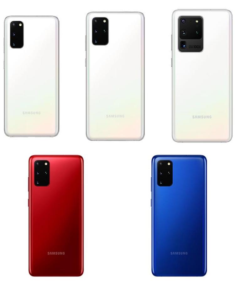 Les Galaxy S20 prennent des couleurs
