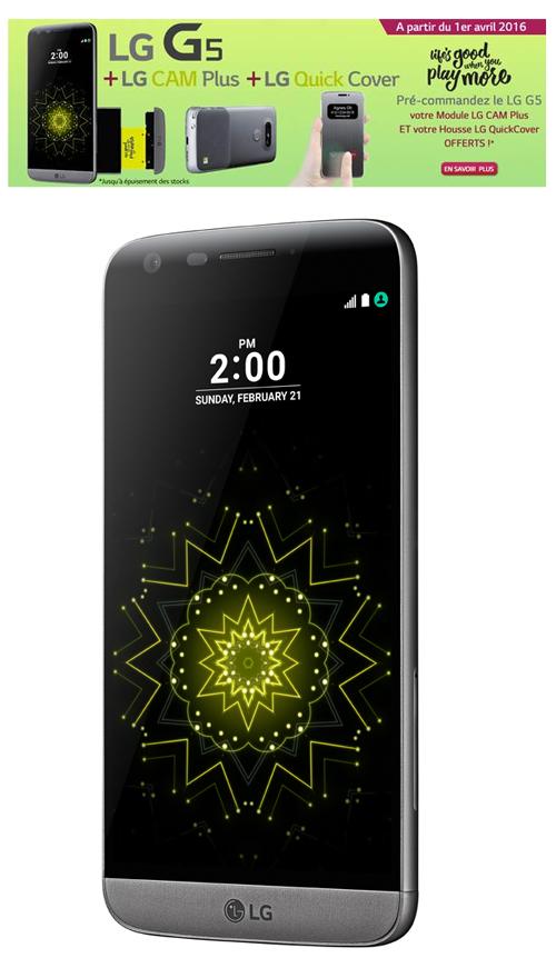 Les pré-commandes du LG  G5 sont ouvertes