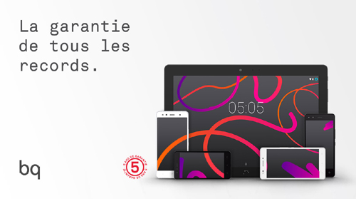 BQ : la garantie pour les smartphones et tablettes passe à 5 ans