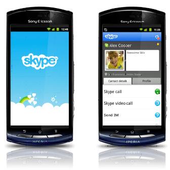 Les vidéoconférences Skype sont disponibles pour les Sony Ericsson Xperia kyno et Xperia pro