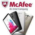 LG choisit McAfee pour s�curiser son smartphone LG G3