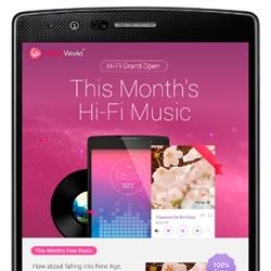 LG offre de la musique audio HD aux utilisateurs de smartphones premium
