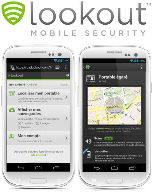 Lookout Mobile Security peut géolocaliser un mobile Android égaré