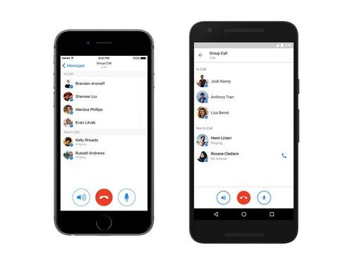 Facebook Messenger intègre des appels de groupe par VOIP à sa messagerie