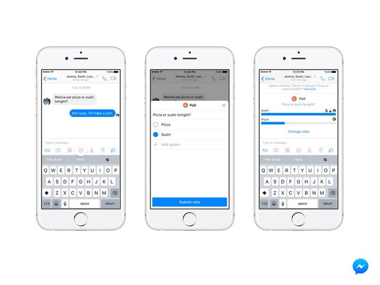 Messenger : bient�t des sondages et des rappels pour payer ses amis ?