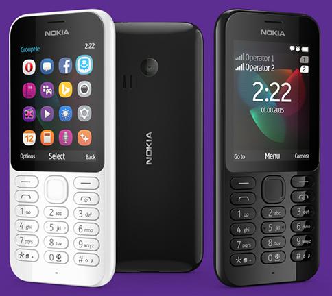 Microsoft dévoile les Nokia 222