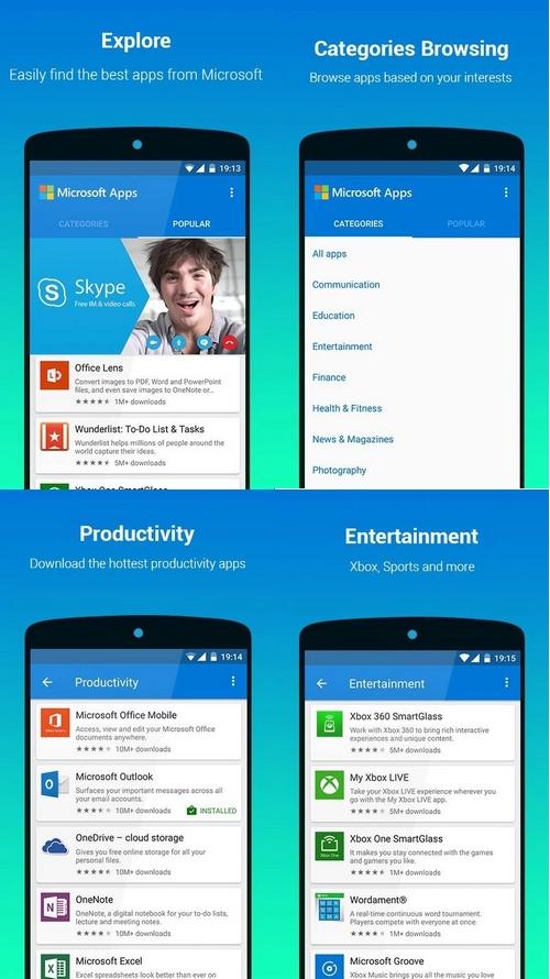Microsoft Apps : la boutique d'applications  prend place à l'intérieur du Play Store