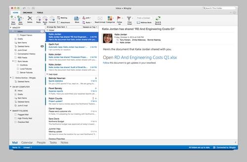 Microsoft Office 365 : Outlook pour Mac est mis à jour