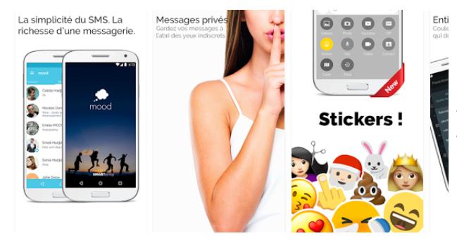 Mood Messenger, une application SMS nouvelle génération pour Android