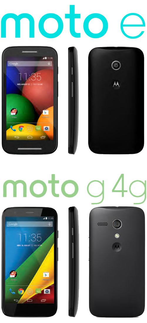 Motorola dévoile  le Moto E et le Moto G 4G