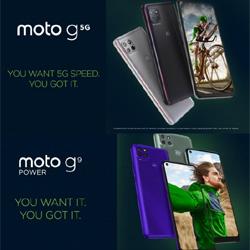 Motorola présente deux nouveaux smartphones, les moto g 5G et moto g9 power